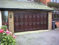 or large, heavy double doors