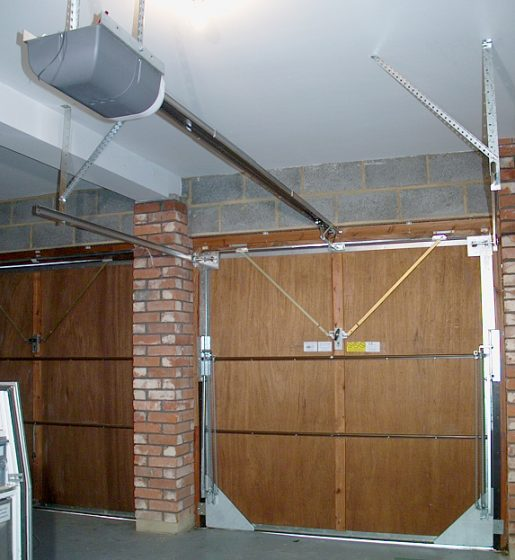 Click image to enlarge & Upgrading a Henderson vertically tracked canopy door