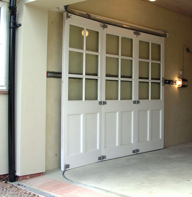 horizontally tracked sliding doors automation On sliding garage doors